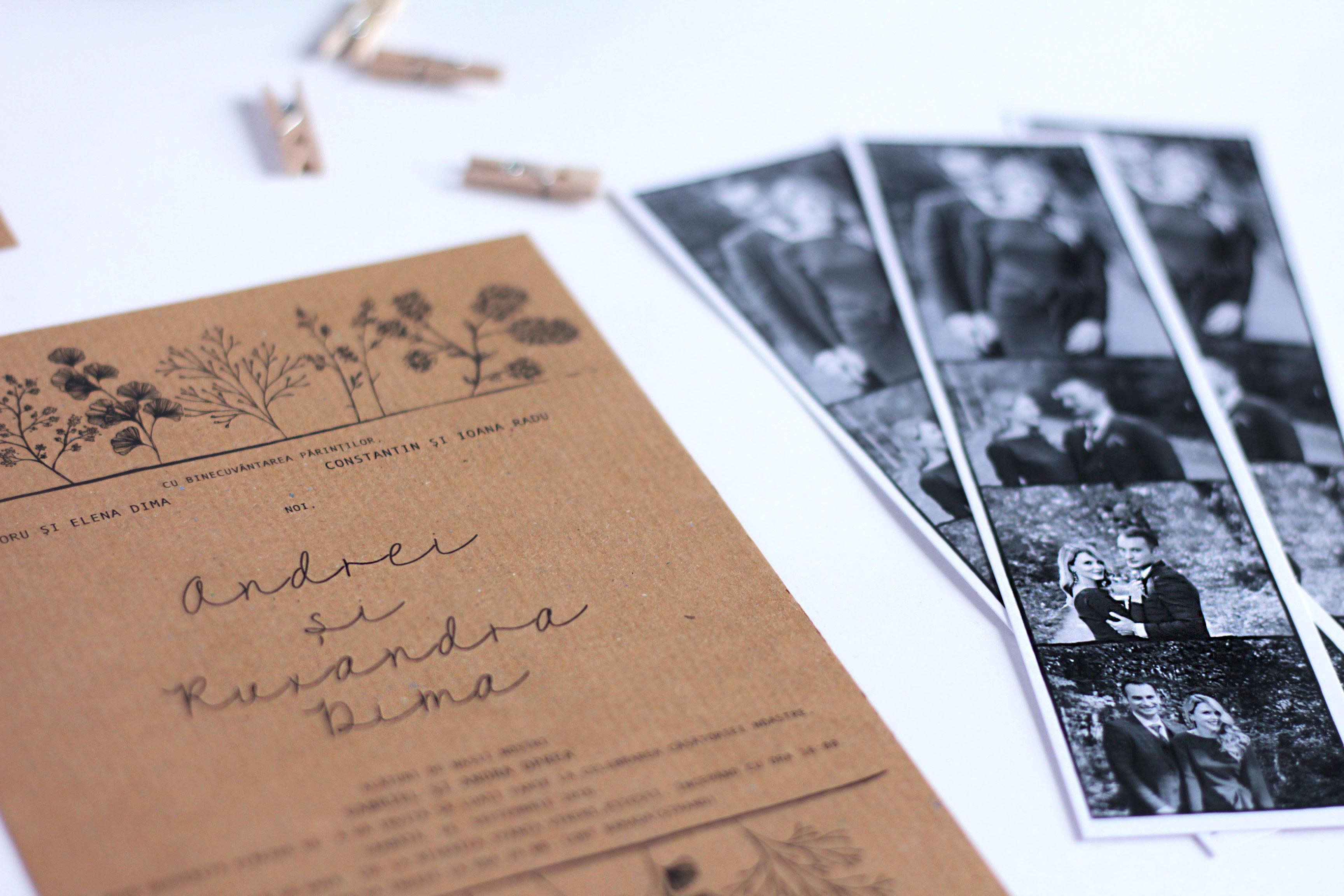 Invitatii personalizate pentru nunta | PAPIRA
