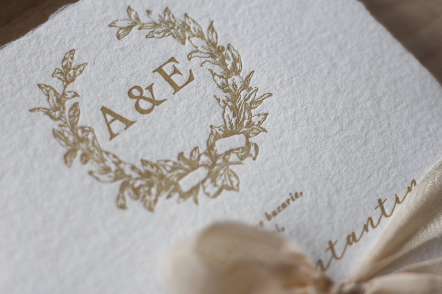 Invitatii nunta letterpress Papira