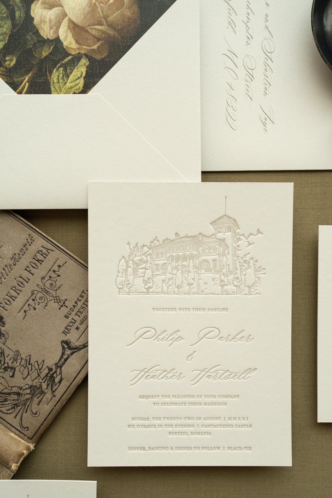 Papira Letterpress Wedding Invitations