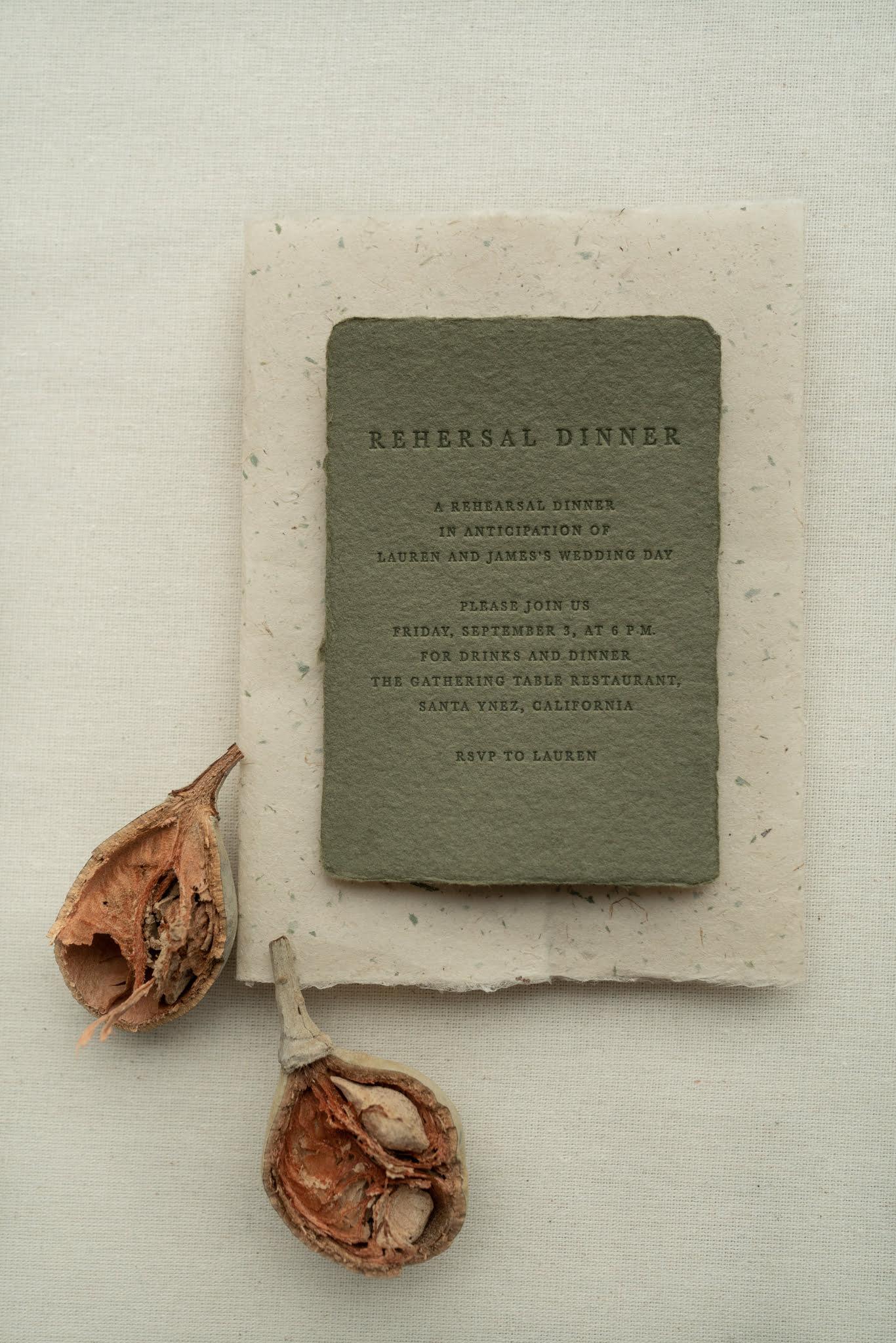 letterpress wedding invitations PAPIRA