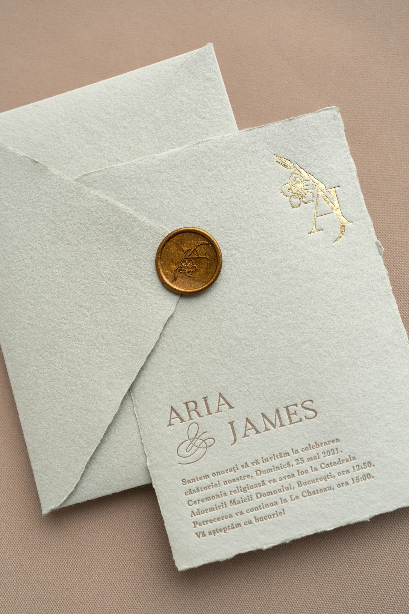 letterpress wedding invitations PAPIRA