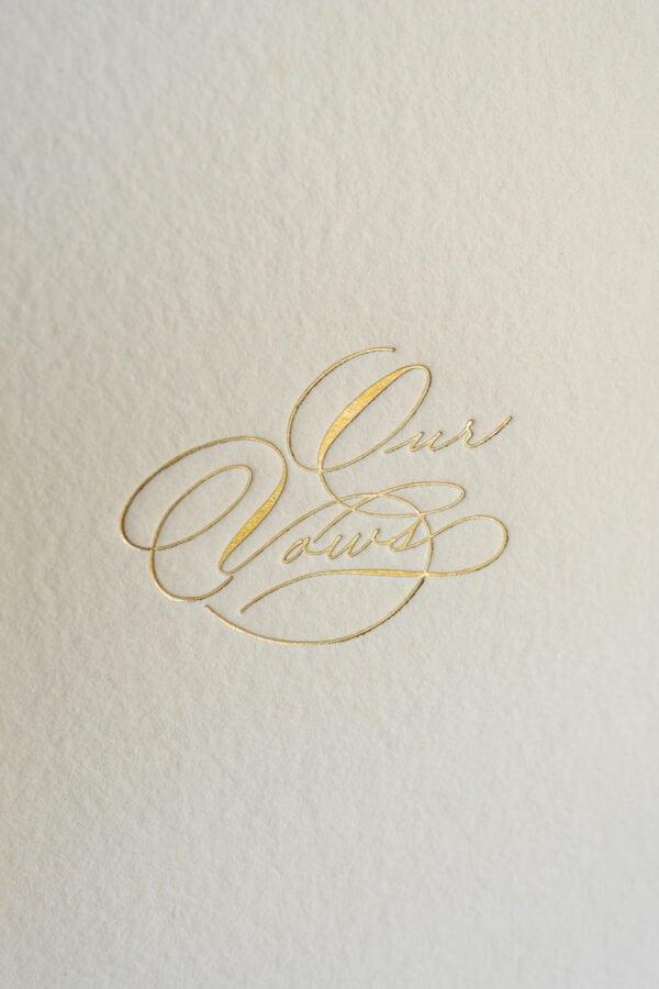 gold foil vow books