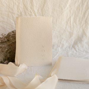 handmade paper vows