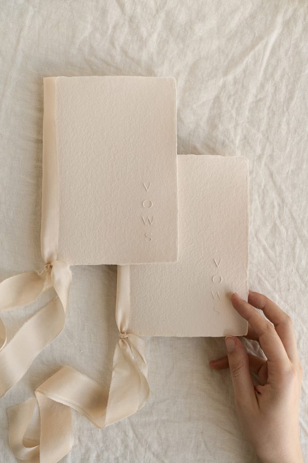 handmade paper vows