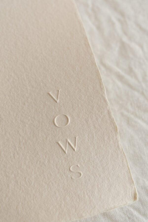 handmade paper luxury vows