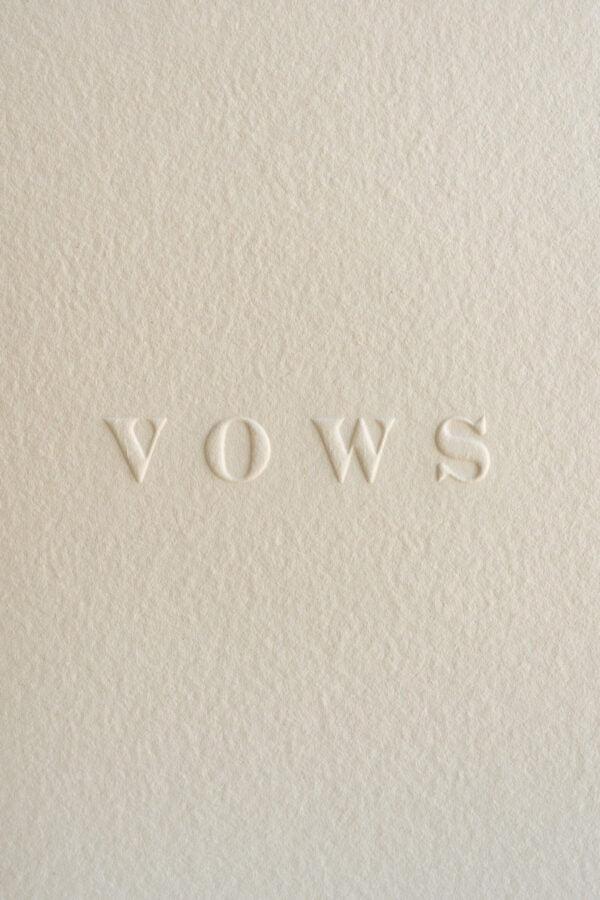 letterpress vow books