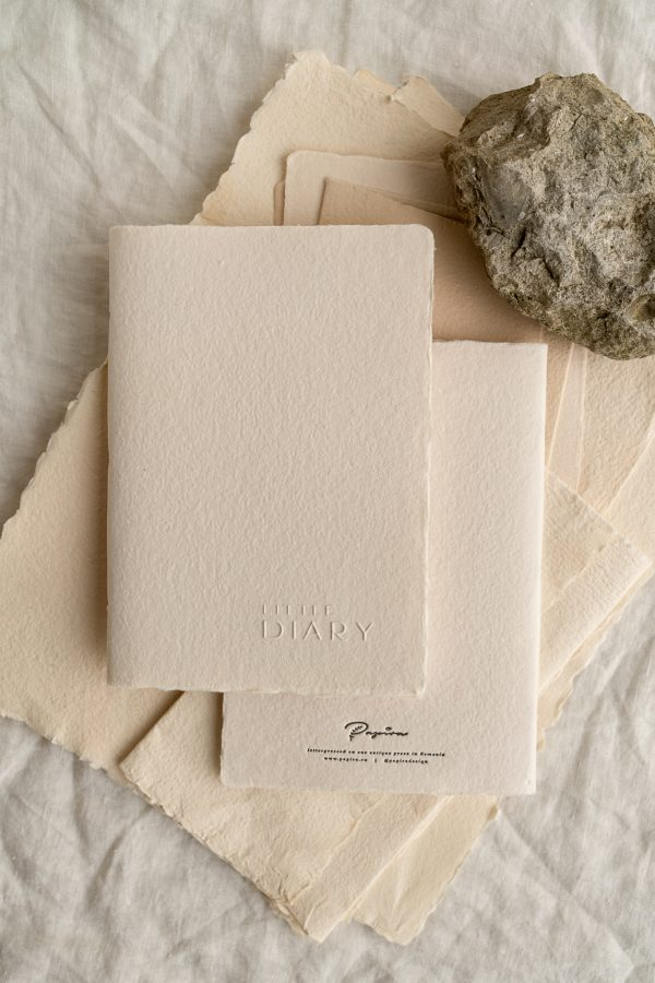 notebook letterpress on handmade paper PAPIRA
