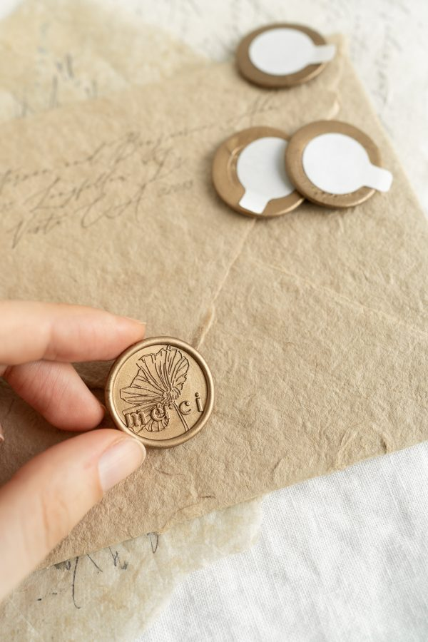 Merci - Self Adhesive Wax Seal - PAPIRA