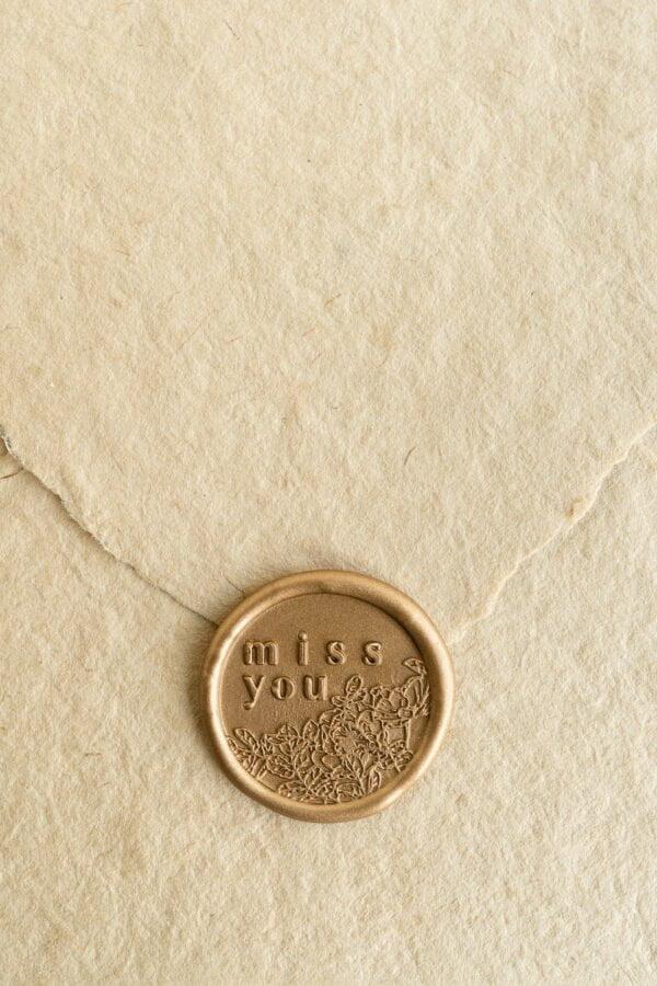 Miss You Wax Seal Stamp - PAPIRA
