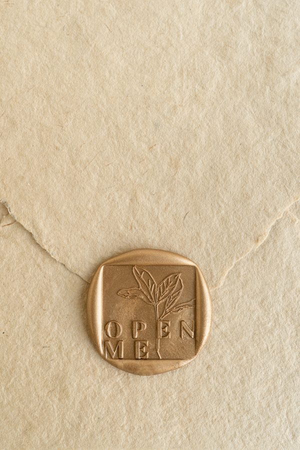 Open Me Wax Seal Stamp PAPIRA