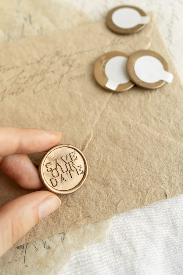 Save Our Date Self Adhesive wax seals_PAPIRA