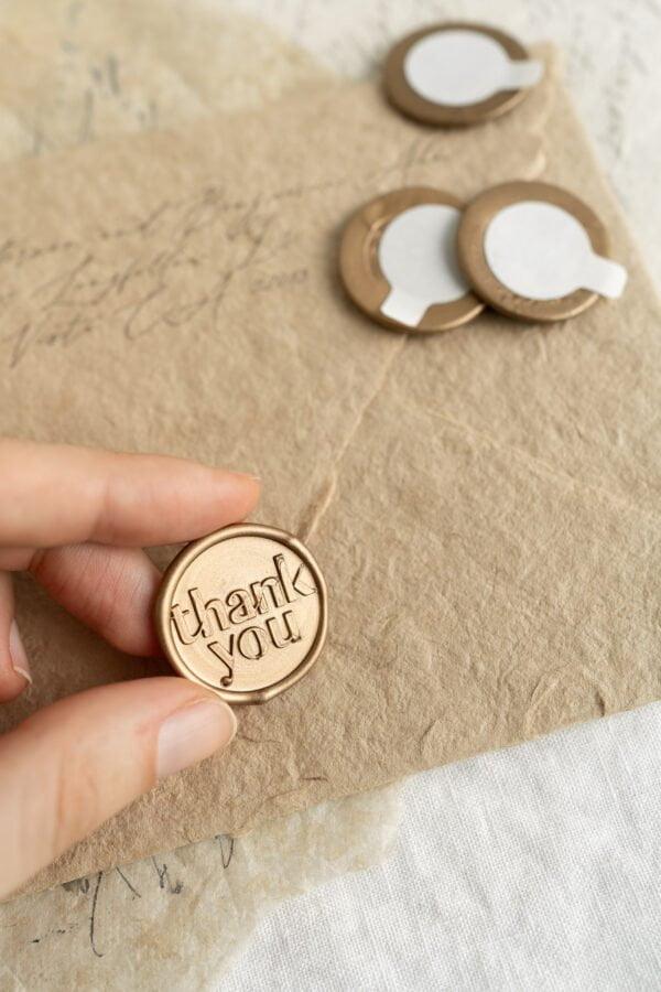 Thank You Self Adhesive Wax Seals - PAPIRA