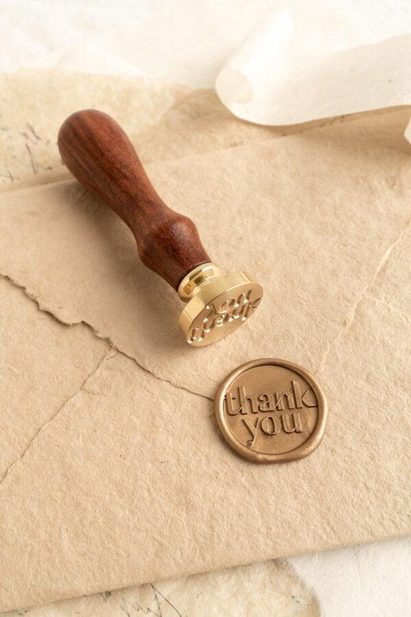 Thank You Wax Seal Stamp - PAPIRA