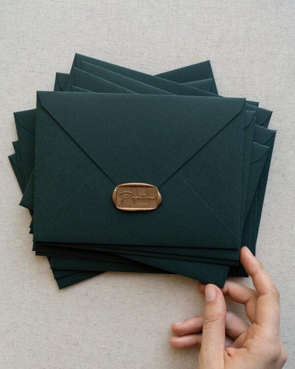 plicuri colorate handmade royal green