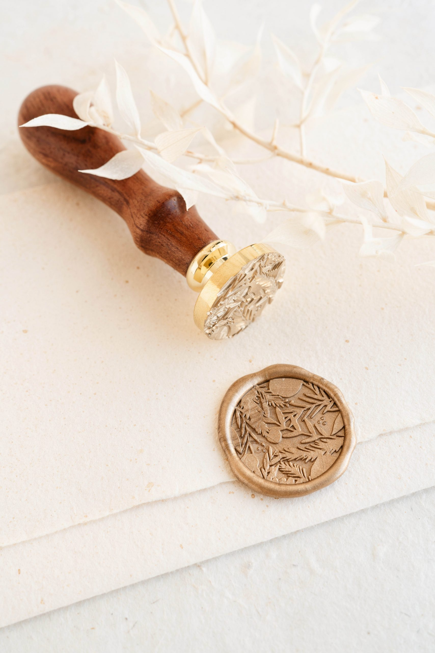 Christmas Branches Wax Seal Stamp PAPIRA.