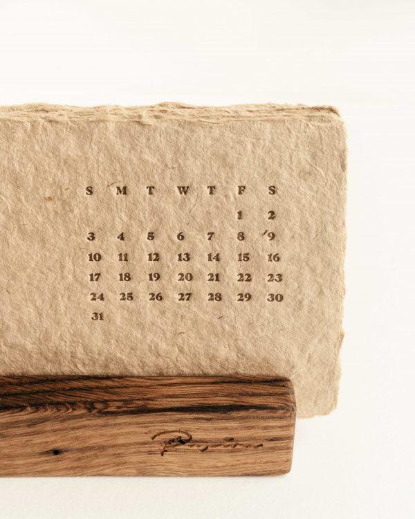 2021 Papira Desk Letterpress Calendar